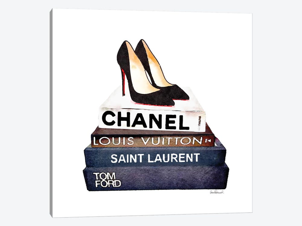 Stack Of Fashion Books With Heels I 1-piece Art Print