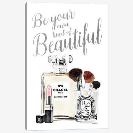 Be Your Own Kind Of Beauty Silver Makeup Canvas Print #GRE94} Canvas Art
