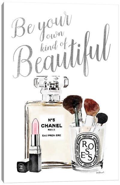 Be Your Own Kind Of Beauty Silver Makeup Canvas Art Print