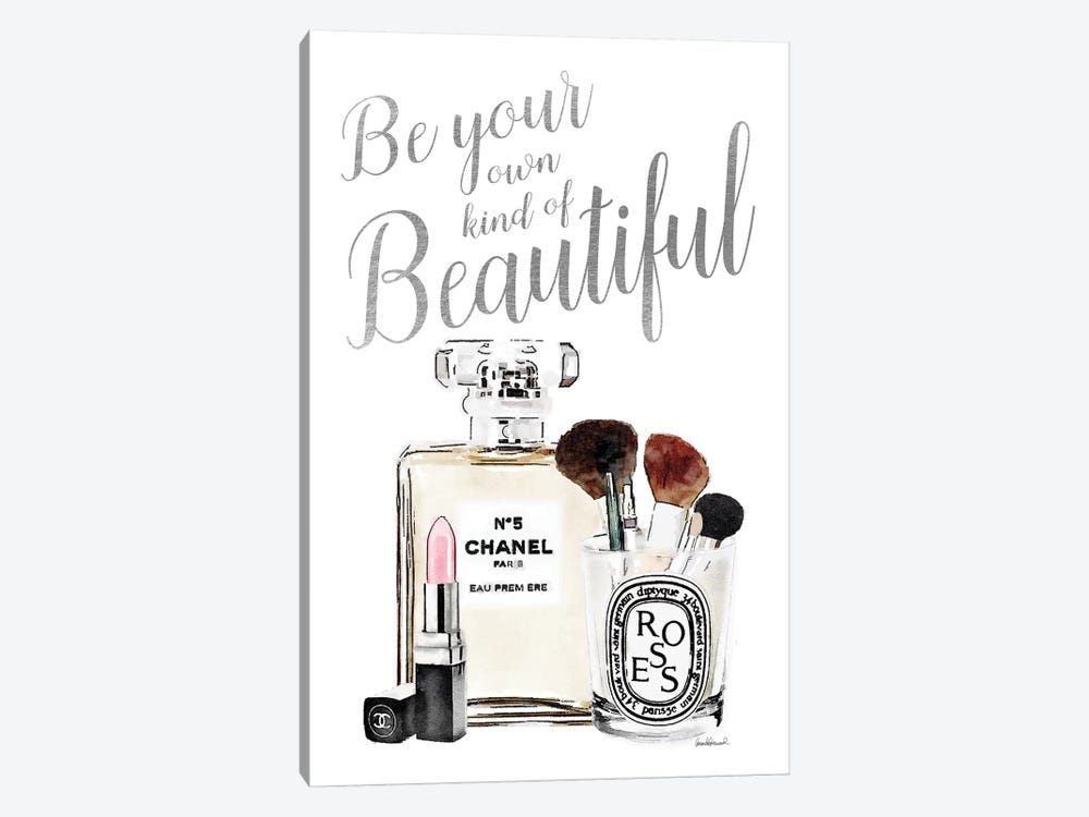 Be Your Own Kind Of Beauty Silver Makeup by Amanda Greenwood 1-piece Canvas Wall Art