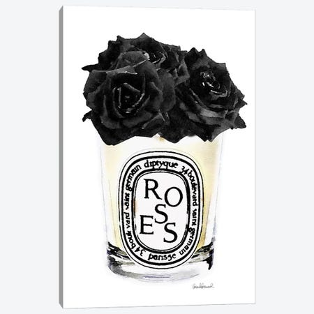 Candle With Black Roses Canvas Print #GRE97} by Amanda Greenwood Canvas Art