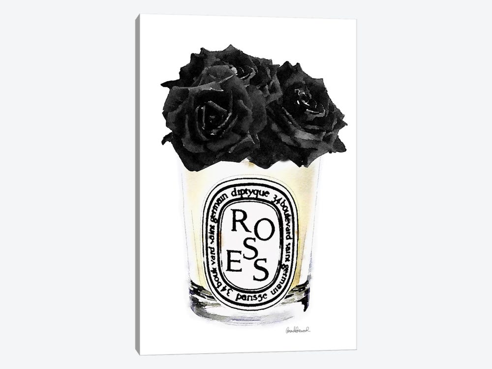 Candle With Black Roses by Amanda Greenwood 1-piece Art Print