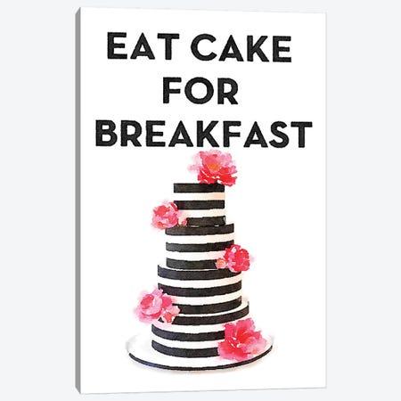 Eat Cake For Breakfast Canvas Print #GRE99} by Amanda Greenwood Canvas Art Print