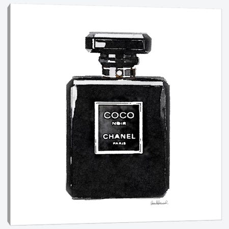 Coco Noir Perfume Canvas Print #GRE9} by Amanda Greenwood Art Print