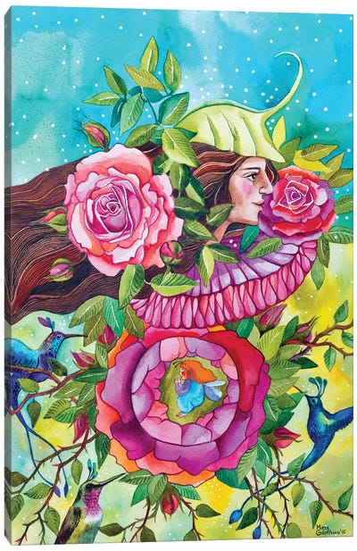 Garden Of Joy And Happiness Canvas Art Print