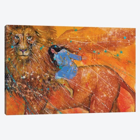 Golden Lion Canvas Print #GRF14} by Mirta Groffman Art Print