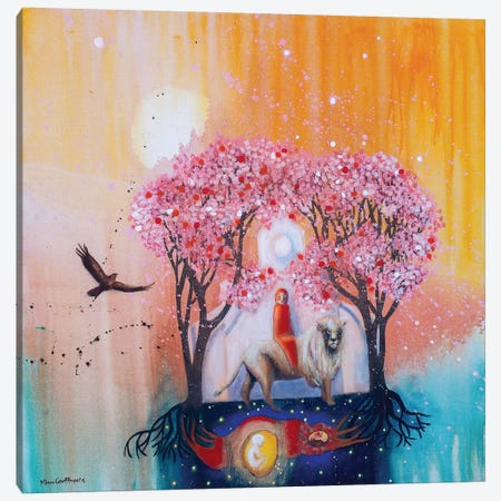 At The Turn Of Embodiment Canvas Print #GRF2} by Mirta Groffman Canvas Art
