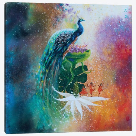 The Dance Of Happiness Canvas Print #GRF39} by Mirta Groffman Canvas Artwork