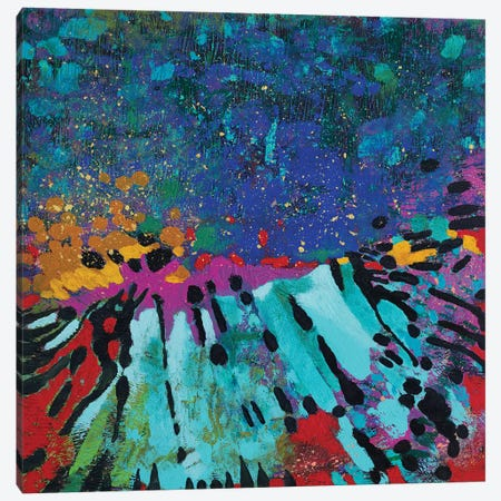The Sound Of Happy Night Canvas Print #GRF43} by Mirta Groffman Canvas Art Print
