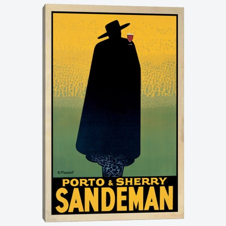 Porto And Sherry Sandeman Canvas Print #GRG1} by Georges Massiot Art Print