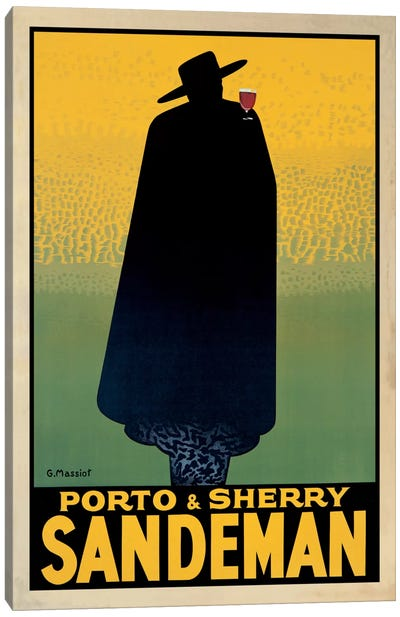 Porto And Sherry Sandeman Canvas Art Print