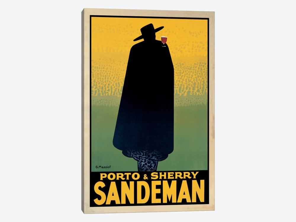 Porto And Sherry Sandeman by Georges Massiot 1-piece Art Print