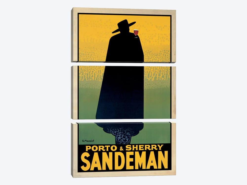 Porto And Sherry Sandeman by Georges Massiot 3-piece Art Print