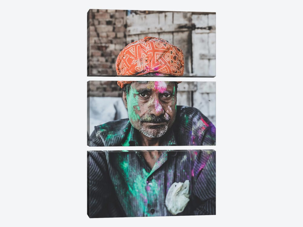 Mathura, India by Luke Anthony Gram 3-piece Canvas Art