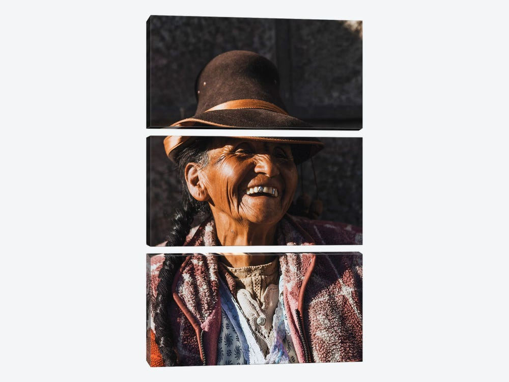 Peruvian Merchant by Luke Anthony Gram 3-piece Canvas Print