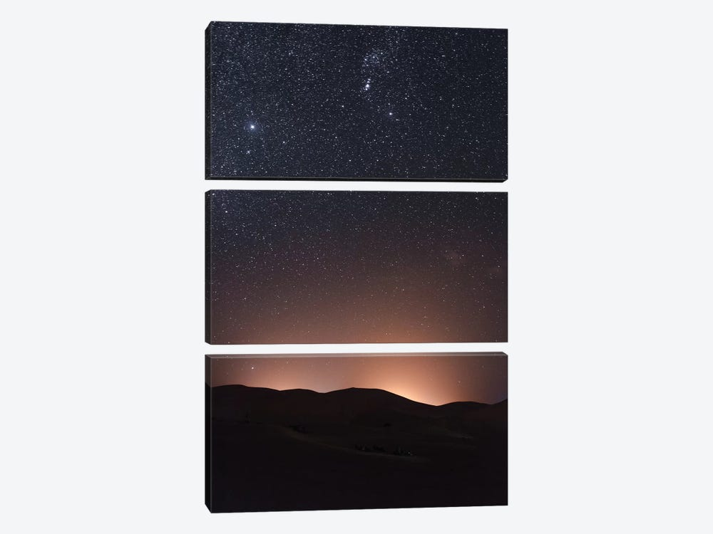 Sahara Desert At Night by Luke Anthony Gram 3-piece Art Print