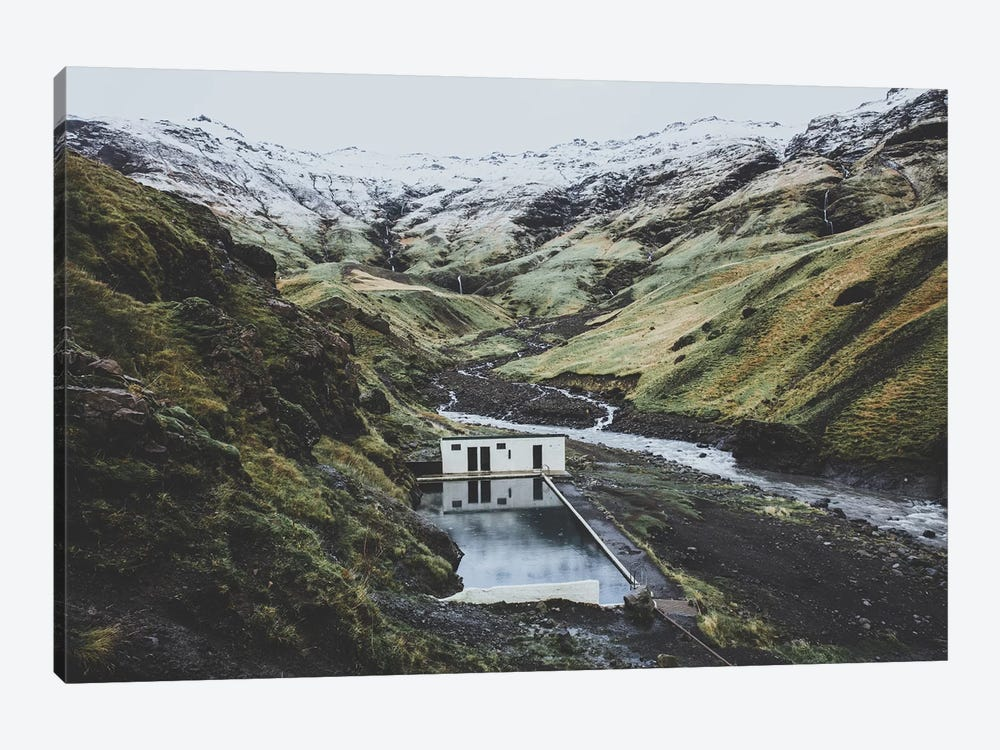 Seljavallalaug, Iceland by Luke Anthony Gram 1-piece Canvas Art