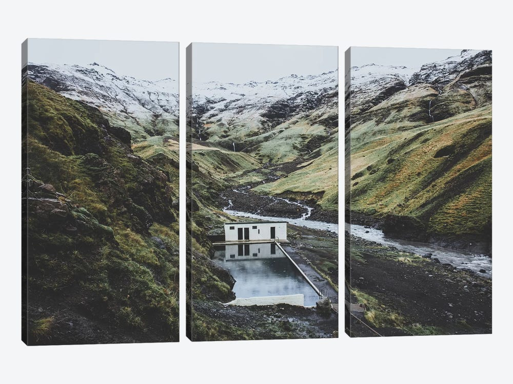 Seljavallalaug, Iceland by Luke Anthony Gram 3-piece Canvas Artwork