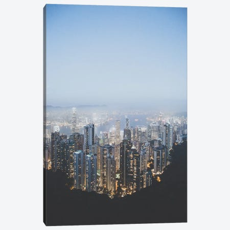 Victoria Peak, Hong Kong Canvas Print #GRM143} by Luke Anthony Gram Canvas Art Print
