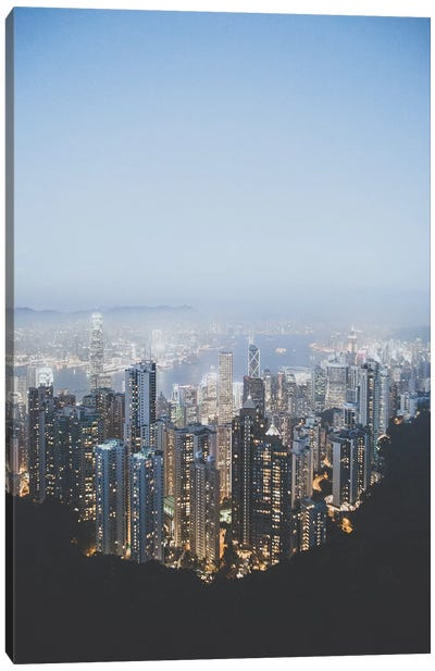 Victoria Peak, Hong Kong Canvas Art Print