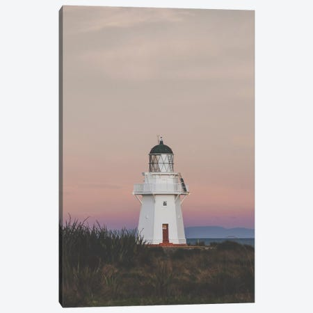 Wapapa Point Lighthouse, New Zealand Canvas Print #GRM146} by Luke Anthony Gram Canvas Artwork