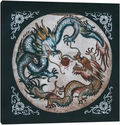 Chinese Temples Canvas Art Print
