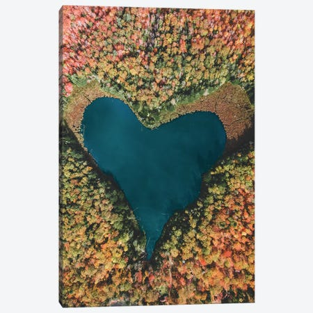 Heart Lake Canvas Print #GRM167} by Luke Anthony Gram Canvas Artwork