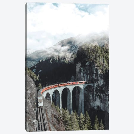 Landwasser Viaduct, Switzerland Canvas Print #GRM174} by Luke Anthony Gram Canvas Print