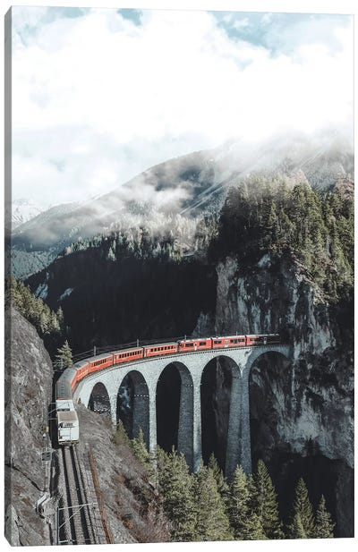 Landwasser Viaduct, Switzerland Canvas Art Print