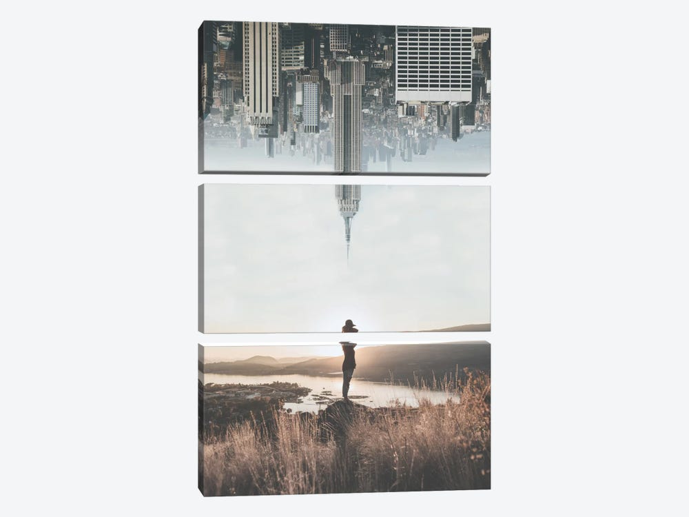 Between Earth & Sky by Luke Anthony Gram 3-piece Canvas Art Print