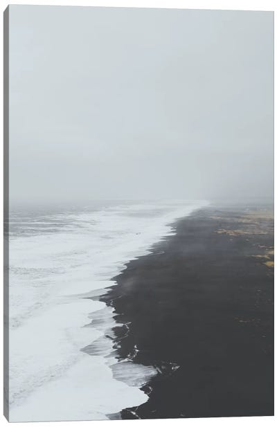 Black Sand Beach, Iceland Canvas Art Print
