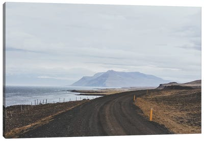 Icelandic Coastal Road Canvas Art Print