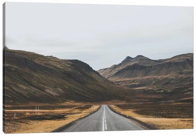 Icelandic Country Road Canvas Art Print