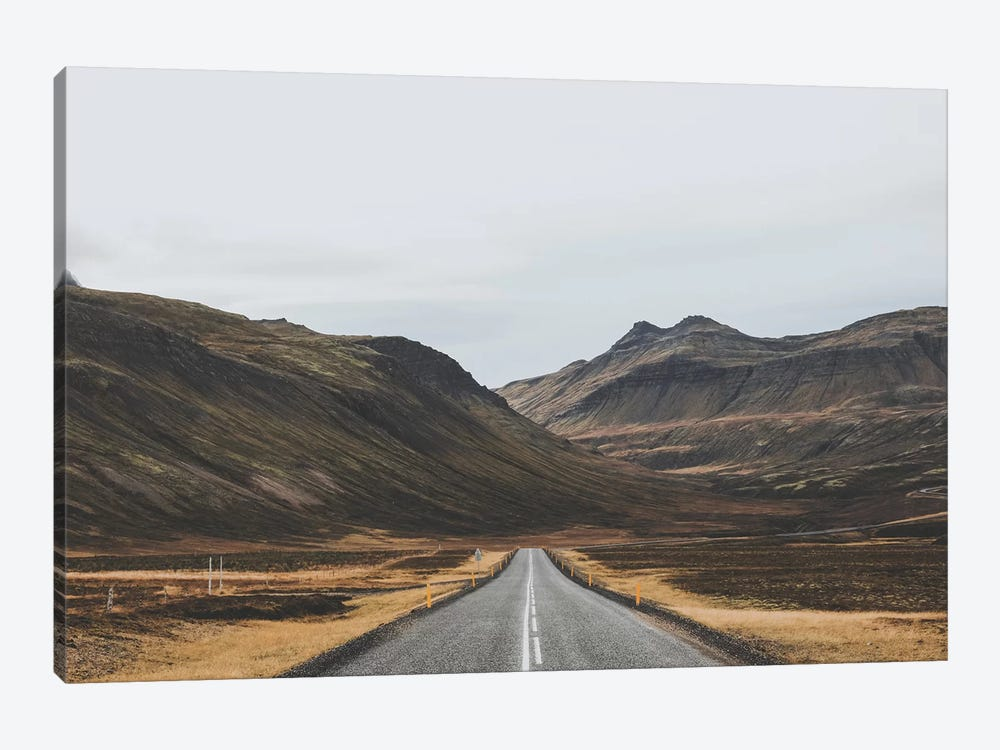 Icelandic Country Road 1-piece Canvas Art Print