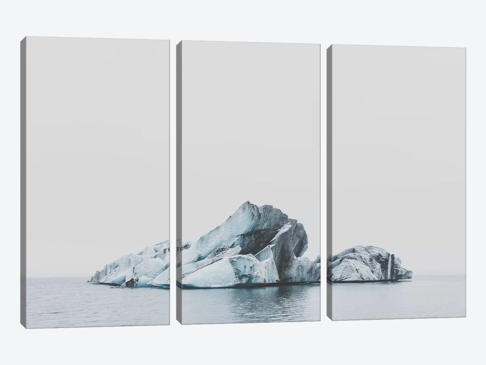 Jökulsárlón, Iceland by Luke Anthony Gram 3-piece Canvas Art