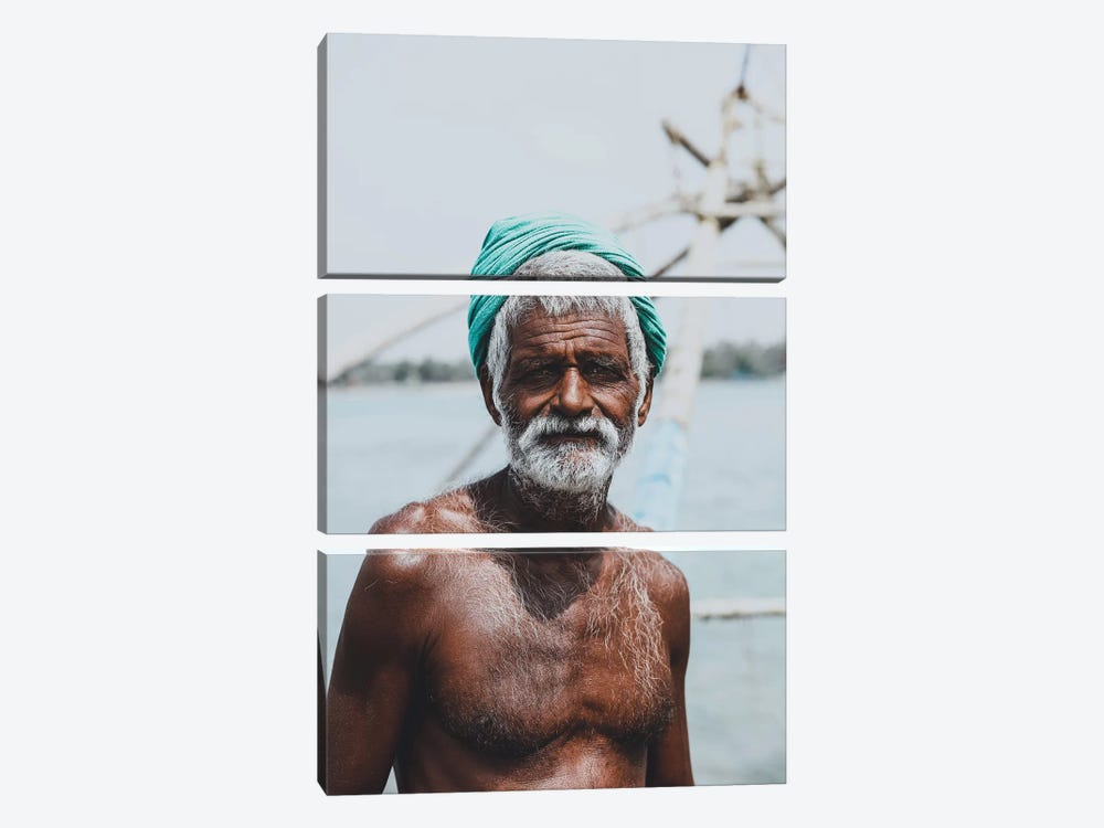 Kochin, India IV 3-piece Canvas Print
