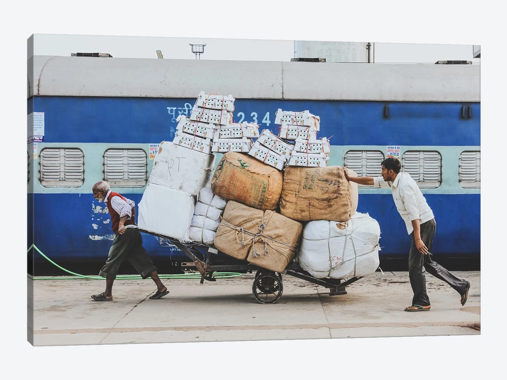 Lucknow Railway Station 1-piece Canvas Art