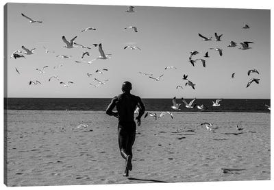 Victor With Birds Canvas Art Print