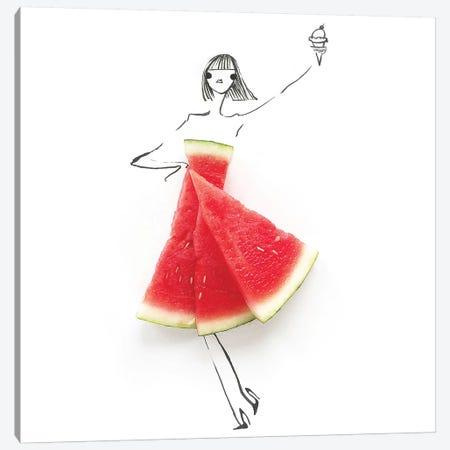 Watermelon Canvas Print #GRR104} by Gretchen Roehrs Art Print
