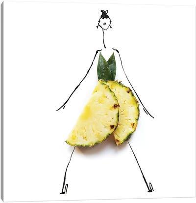 Yellow Pineapple Canvas Art Print