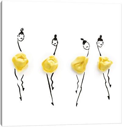 Yellow Tortellini Canvas Art Print