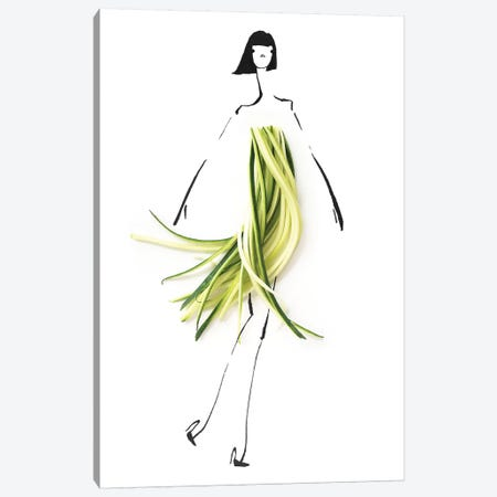 Zucchini Canvas Print #GRR112} by Gretchen Roehrs Canvas Print