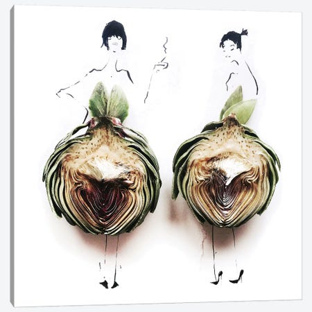 Artichoke Canvas Print #GRR2} by Gretchen Roehrs Canvas Art Print