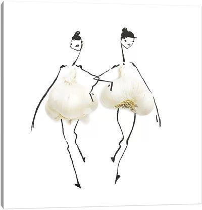 Garlic Canvas Art Print