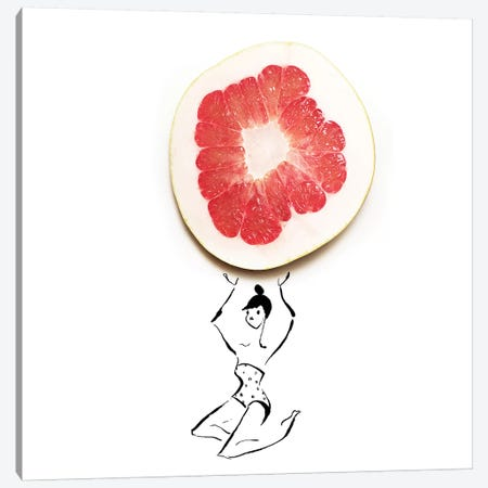 Grapefruit Canvas Print #GRR39} by Gretchen Roehrs Canvas Art