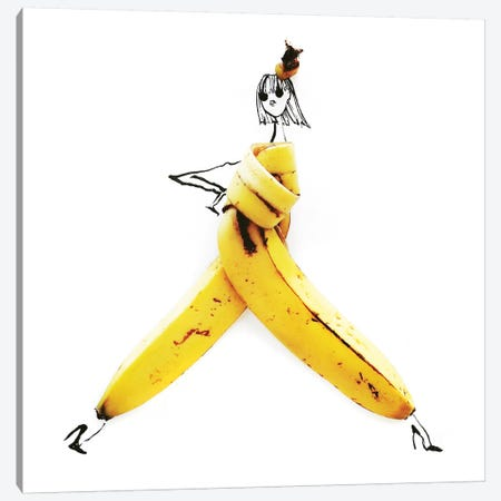 Banana Canvas Print #GRR3} by Gretchen Roehrs Art Print