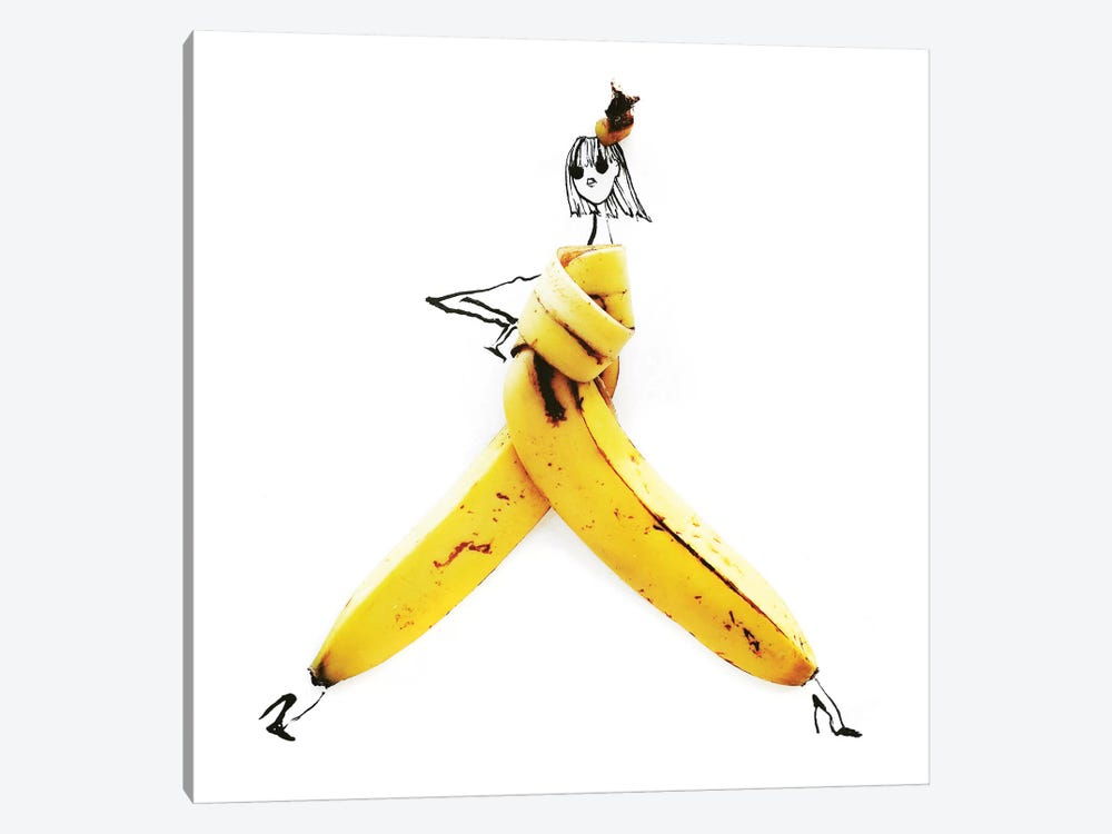 Banana by Gretchen Roehrs 1-piece Canvas Wall Art