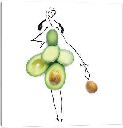 Green Avocado Canvas Art Print