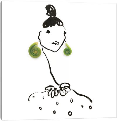 Green Fiddlehead Fern Canvas Art Print