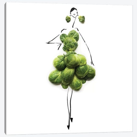 Green Sprouts Canvas Print #GRR44} by Gretchen Roehrs Canvas Art